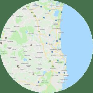 Map of the Sunshine Coast